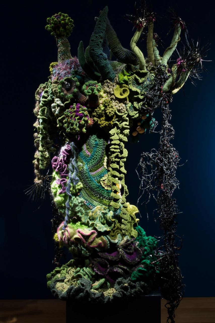 Reef sculpture in gallery