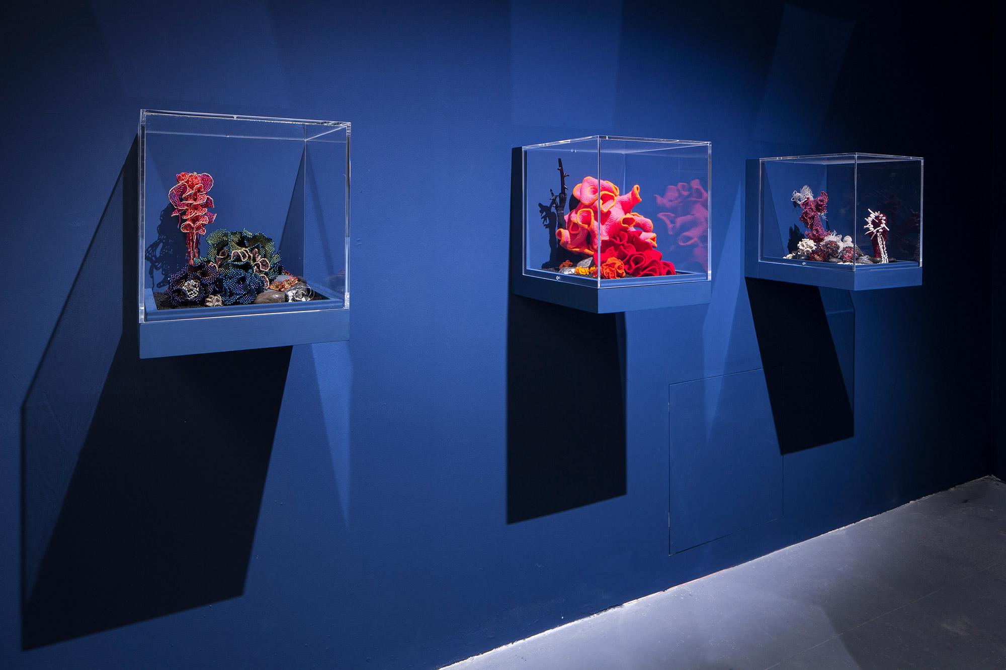 Three reef sculptures