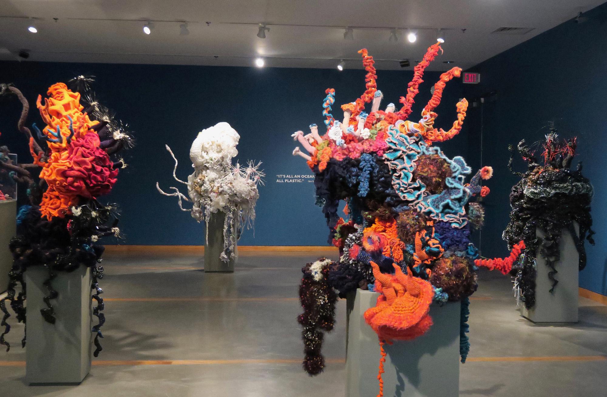 Reef sculptures in a gallery