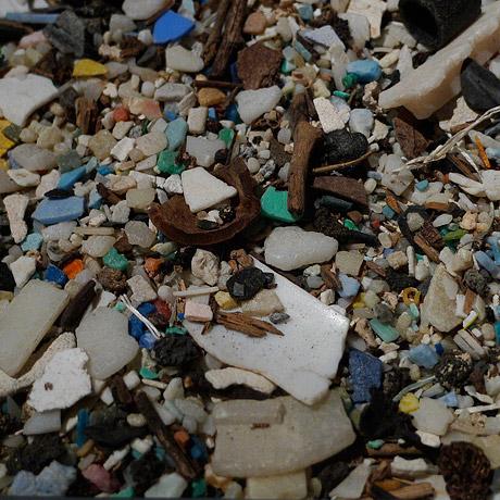 Detail of plastic trash.