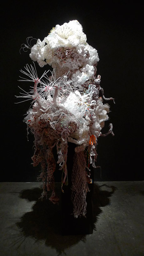 White coral reef sculpture.