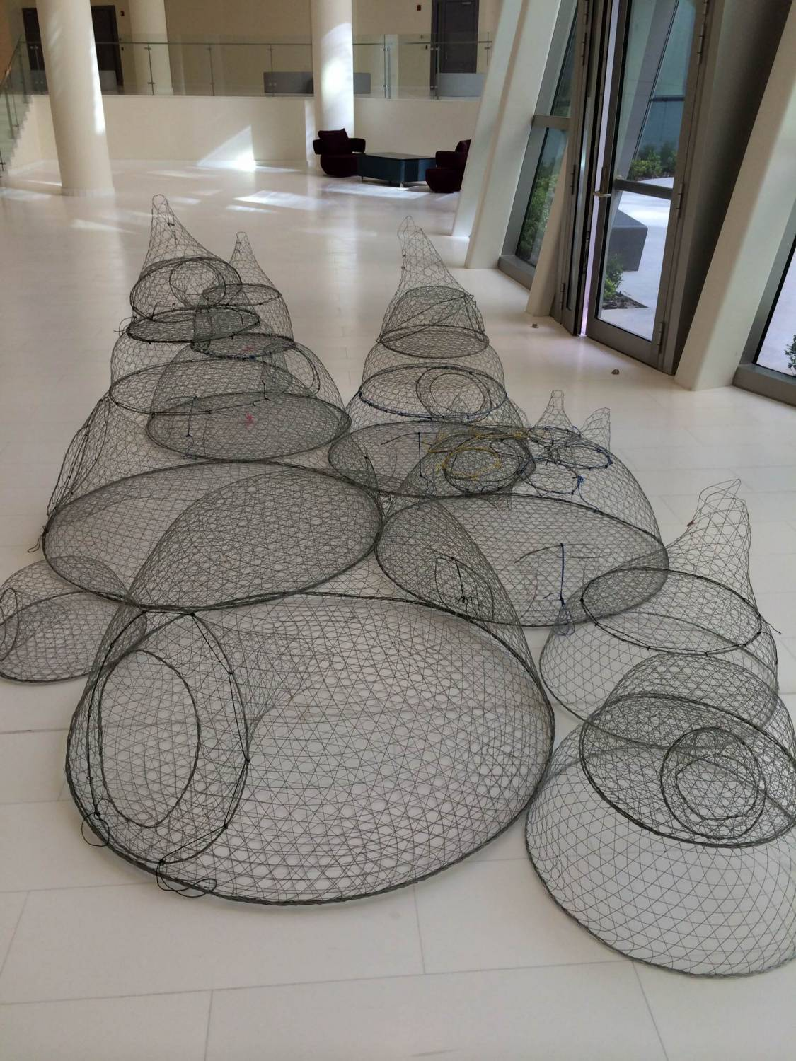 Detail of chicken wire armatures for coral reef sculptures