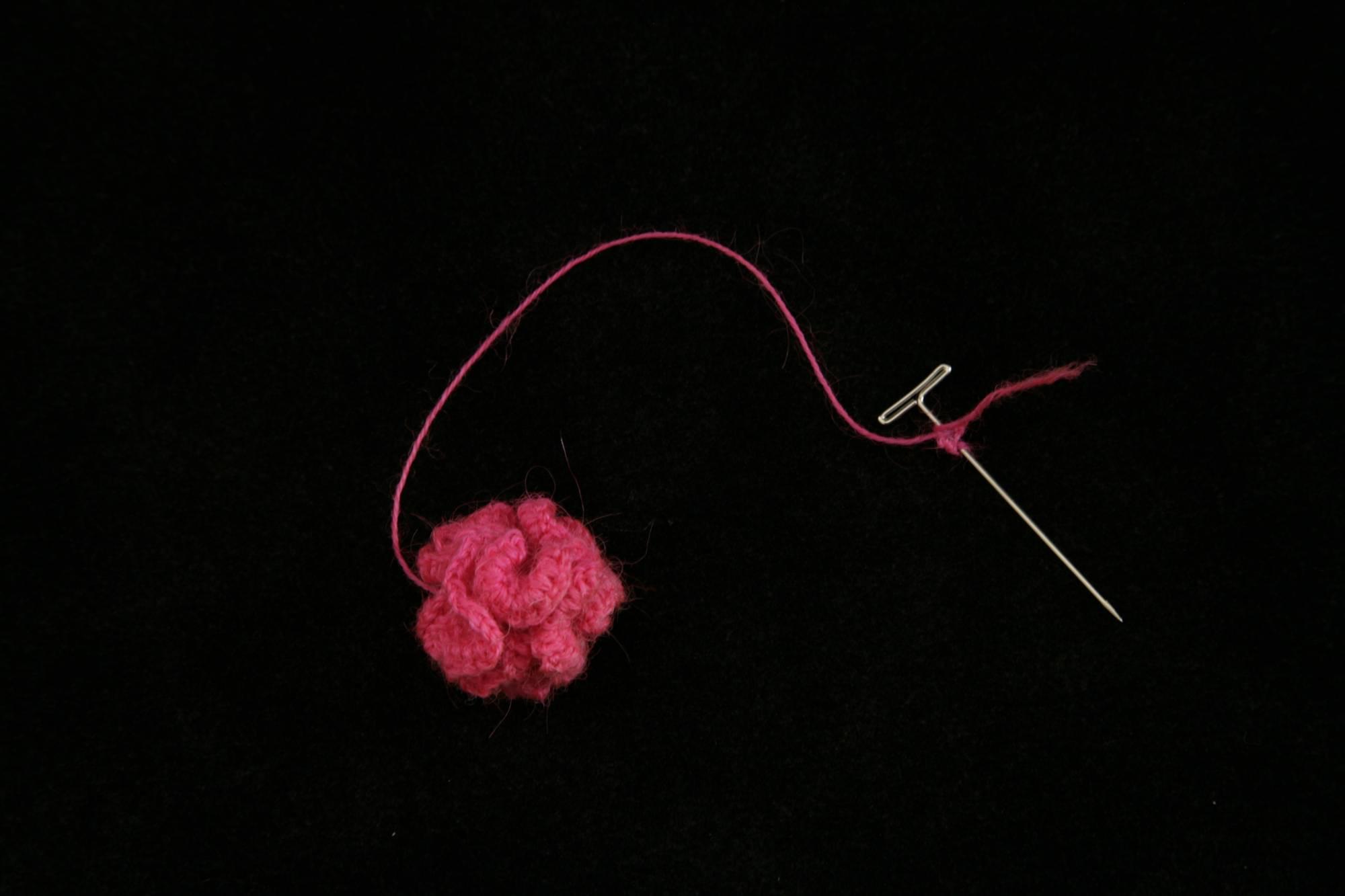 Crochet sculpture