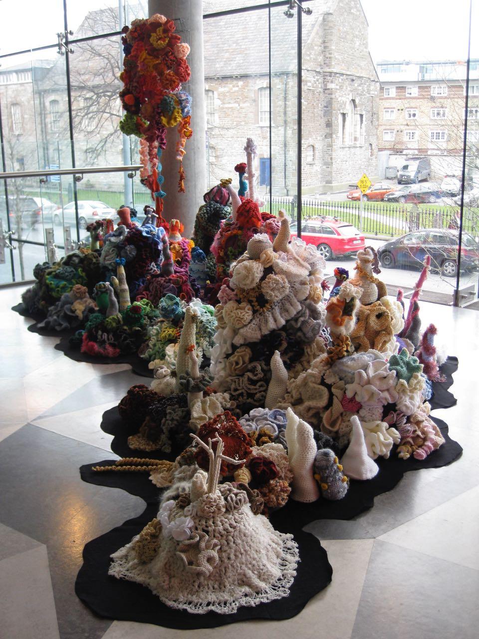 Reef sculptures in gallery