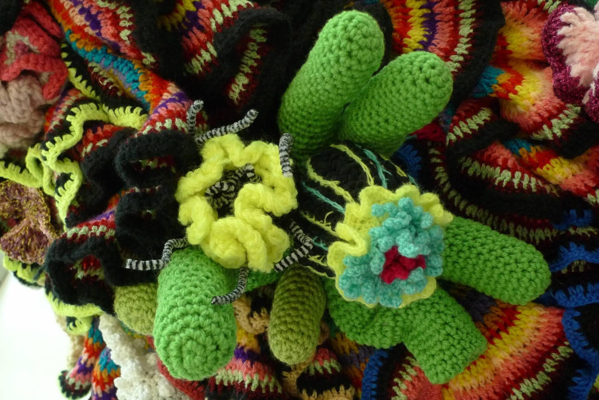 crochet coral sculpture