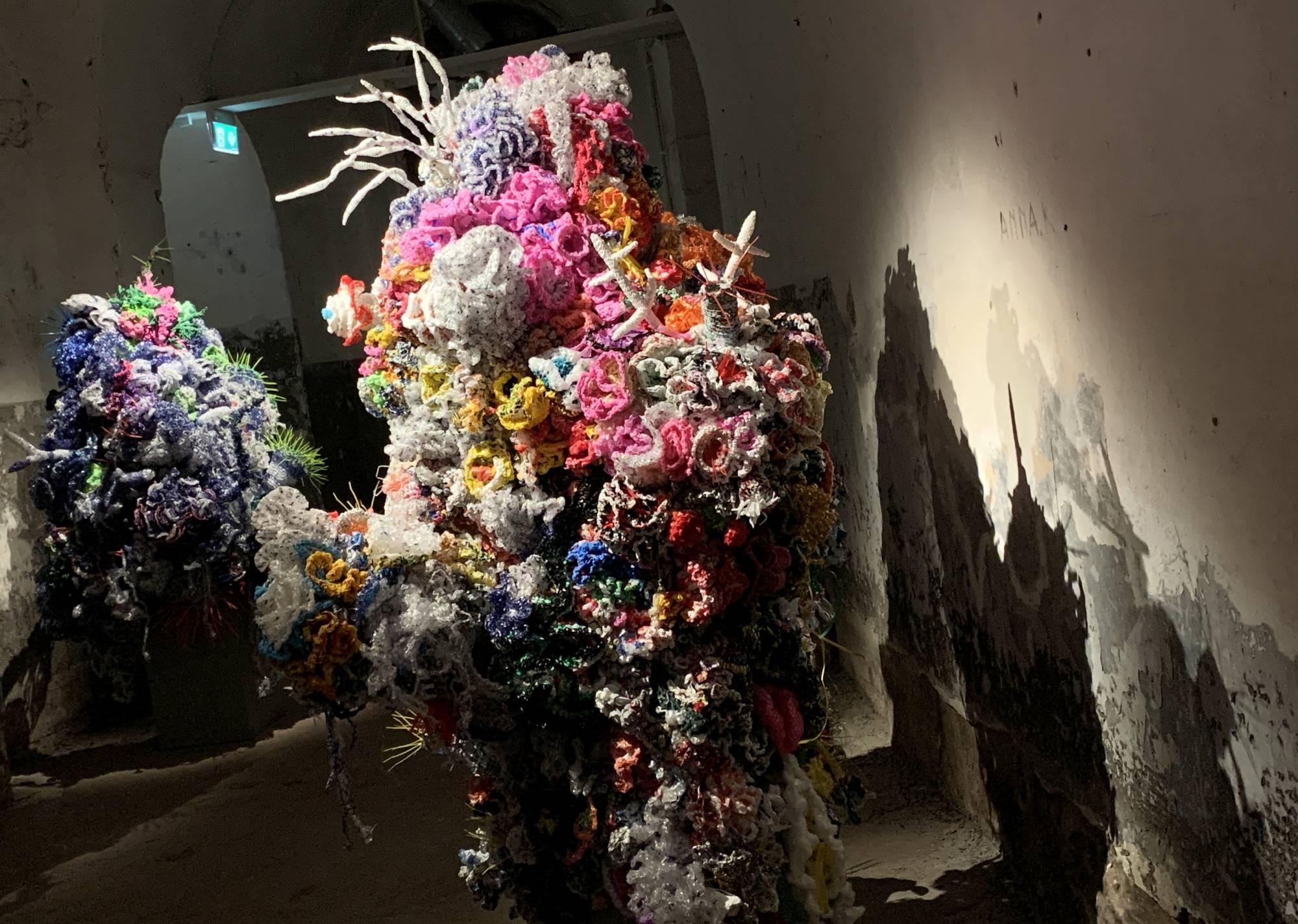crochet coral sculptures